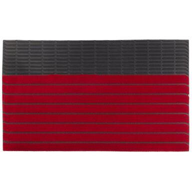 Wycieraczka zewnętrzna PASY 74 x 44 cm gumowa czerwona INSPIRE