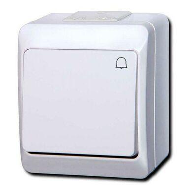 Przycisk dzwonka IP44 HERMES  Biały  ELEKTRO-PLAST