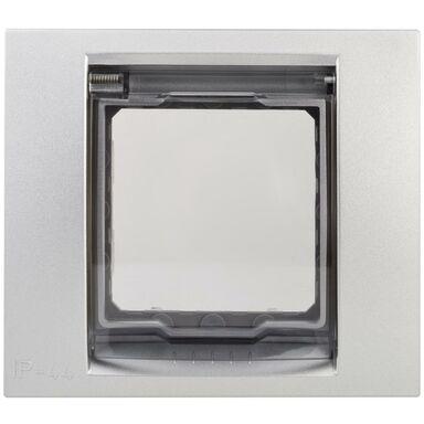 Ramka pojedyncza UNICA  aluminium  SCHNEIDER ELECTRIC