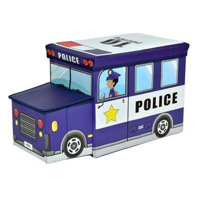 Pufa dziecięca AUTO POLICJA NIEBIESKIE 55 X 26 X 31 CM