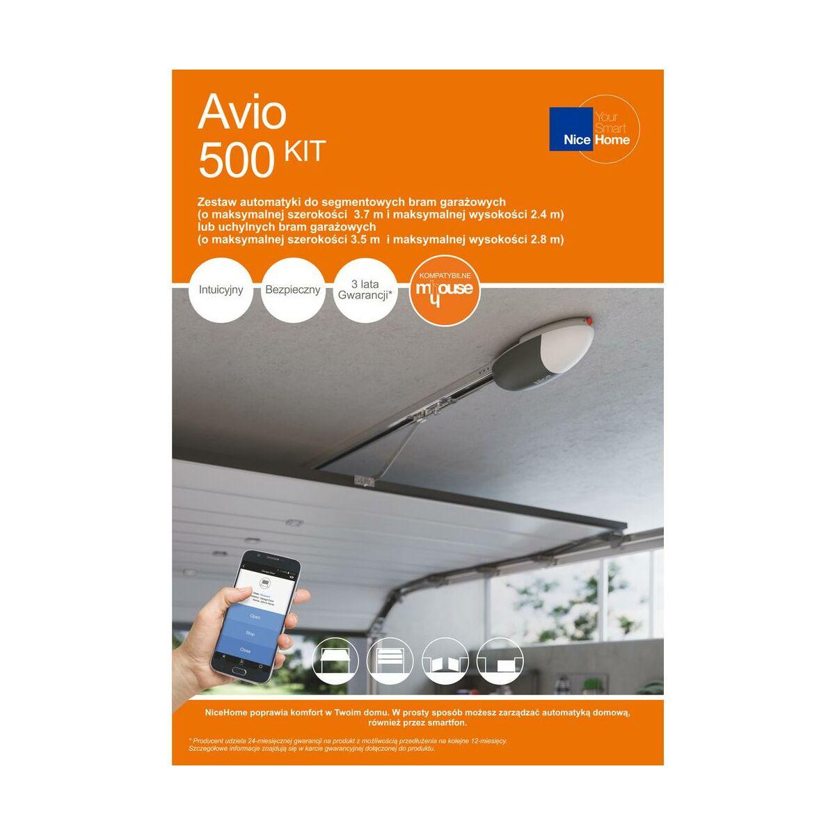 Naped Do Bram Garazowych Avio500 Nice Home Automatyka I Akcesoria Do Bram Garazowych W Atrakcyjnej Cenie W Sklepach Leroy Merlin