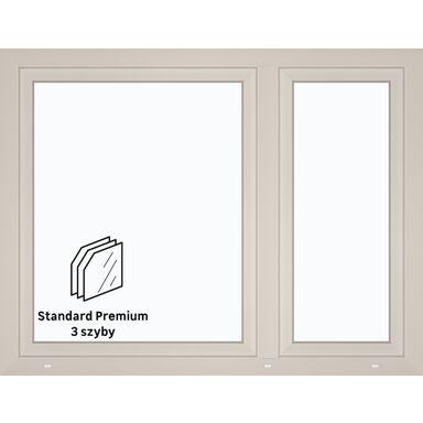 Okno PCV 3-szybowe O19 Białe 1465 x 1135 mm