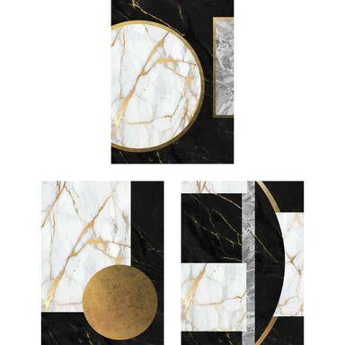 Zestaw 3 plakatów Glamour Marmur 30 x 40 cm