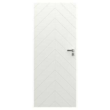 Skrzydło drzwiowe pełne bezprzylgowe VECTOR J Białe 90 Lewe PORTA