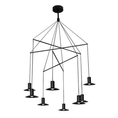 Lampa wisząca HAT czarna 8 x LED LIGHT PRESTIGE