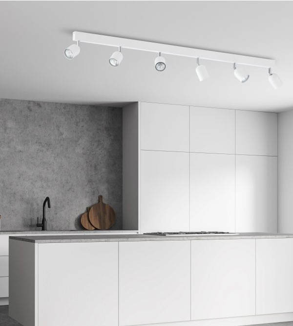Reflektory nad blatem w kuchni