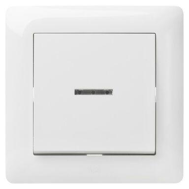 Włącznik pojedynczy z podświetleniem ASTORIA  biały  ELEKTRO-PLAST