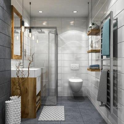 Drewno i minimalizm w łazience
