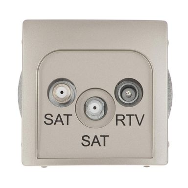 Gniazdo RTV / SAT końcowe podwójne BASIC  inox  KONTAKT SIMON