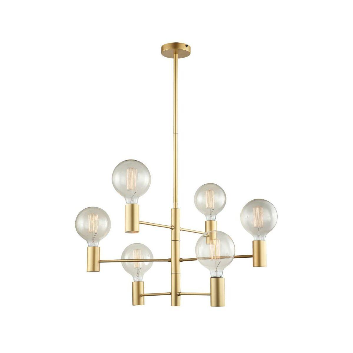 Lampa Wiszaca Veva Zlota E27 Italux Zyrandole Lampy Wiszace I Sufitowe W Atrakcyjnej Cenie W Sklepach Leroy Merlin