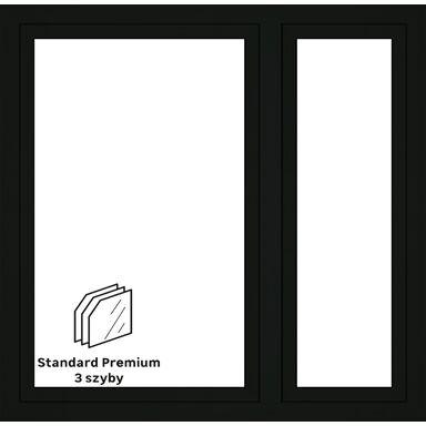 Okno PCV 3-szybowe O35 Antracyt 1465 x 1435 mm
