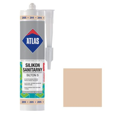 Silikon sanitarny  205 280 ml Kremowy ATLAS