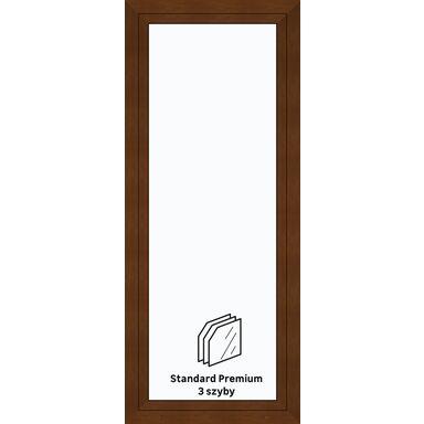 Okno PCV 3-szybowe balkonowe OB3 Złoty dąb 865 x 2095 mm
