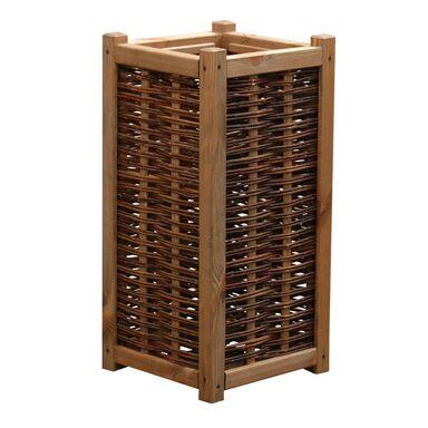 Donica ogrodowa 34 x 34 cm drewniana brązowa SICILIA WERTH-HOLZ