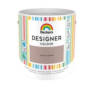 Farba wewnętrzna DESIGNER COLOUR 2.5 l Cup Of Coffee BECKERS