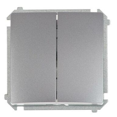 Włącznik schodowy podwójny BASIC  inox  SIMON