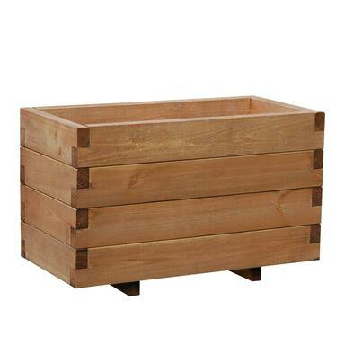 Donica ogrodowa 62 x 31 cm drewniana brązowa DOMINO WERTH-HOLZ