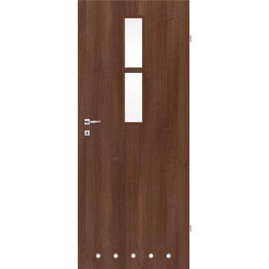 Skrzydło drzwiowe z tulejami wentylacyjnymi Remo Orzech 80 Prawe Classen