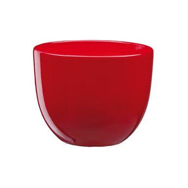 Doniczka ceramiczna 19 cm czerwona BARYŁKA 3 J20 EKO-CERAMIKA