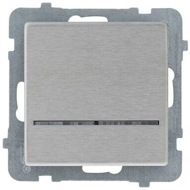 Włącznik pojedynczy z podświetleniem SONATA  stalowy  OSPEL