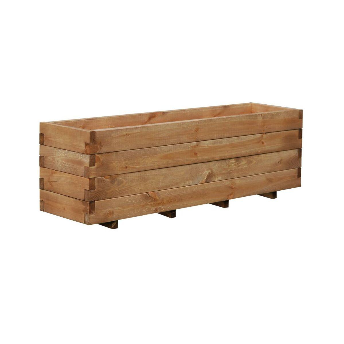 Donica Ogrodowa 124 X 31 Cm Drewniana Brązowa Domino Werth Holz