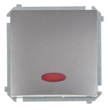 Włącznik pojedynczy Z PODŚWIETLENIEM BASIC Srebrny SIMON