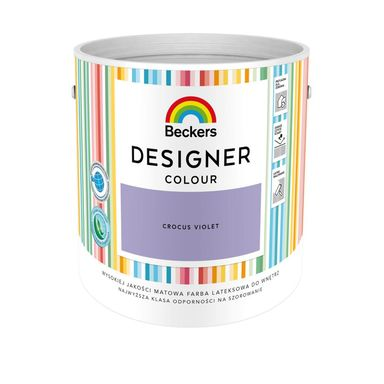 Farba wewnętrzna DESIGNER COLOUR 2.5 l Crocus Violet BECKERS