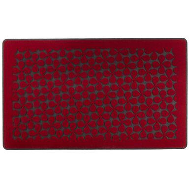 Wycieraczka zewnętrzna CLOVER 74 x 44 cm gumowa czerwona INSPIRE