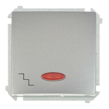 Włącznik schodowy z podświetleniem BASIC  inox  SIMON