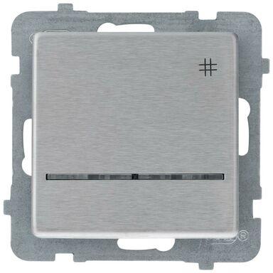 Włącznik krzyżowy z podświetleniem SONATA  stalowy  OSPEL