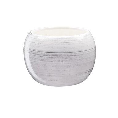 Doniczka ceramiczna 16 cm biała KULA 4 J1536 EKO-CERAMIKA