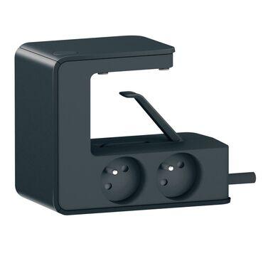 Przedłużacz listwowy bez bezpiecznika z kablem 4x2P+Z 16A 230V + 2 x USB CZARNY LEGRAND