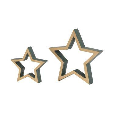 Figurka gwiazda 15 cm 1 szt. drewniana