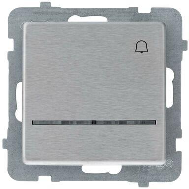 Przycisk do dzwonka podświetlany SONATA  stalowy  OSPEL