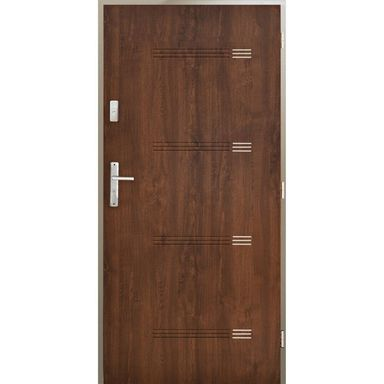 Drzwi wejściowe IZYDA Orzech 80 Prawe PANTOR