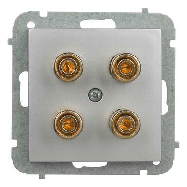 Gniazdo głośnikowe podwójne ASTORIA srebrny ELEKTRO-PLAST
