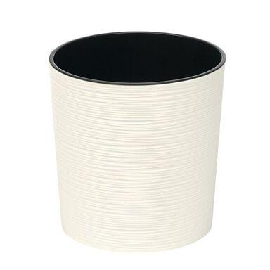 Doniczka plastikowa 25 cm kremowa MALWA