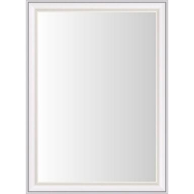 Lustro KENDRA białe 56 x 80 cm w drewnianej ramie