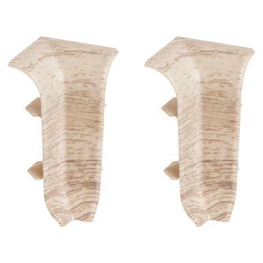 Narożnik wewnętrzny do listwy przypodłogowej ERGO 56 Dąb kremowy 2 szt.
