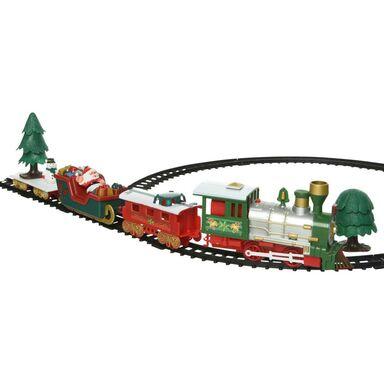 Pociąg z lokomotywą 65 x 31 cm na baterie tory 2,8 m
