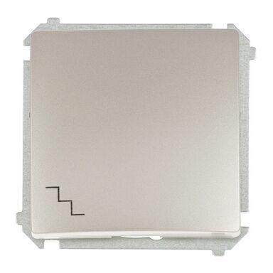 Włącznik pojedynczy schodowy BASIC srebrny SIMON