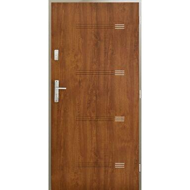 Drzwi wejściowe IZYDA Złoty dąb 90 Prawe PANTOR