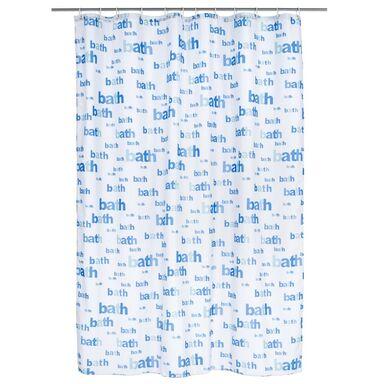 Zasłonka tekstylna BATH BLUE 180 x 200 cm DUSCHY