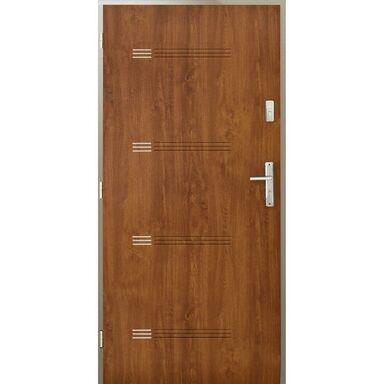 Drzwi wejściowe IZYDA Złoty dąb 90 Lewe PANTOR