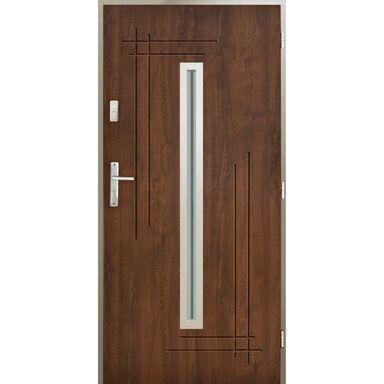 Drzwi zewnętrzne stalowe Ozyrys orzech 90 prawe Pantor