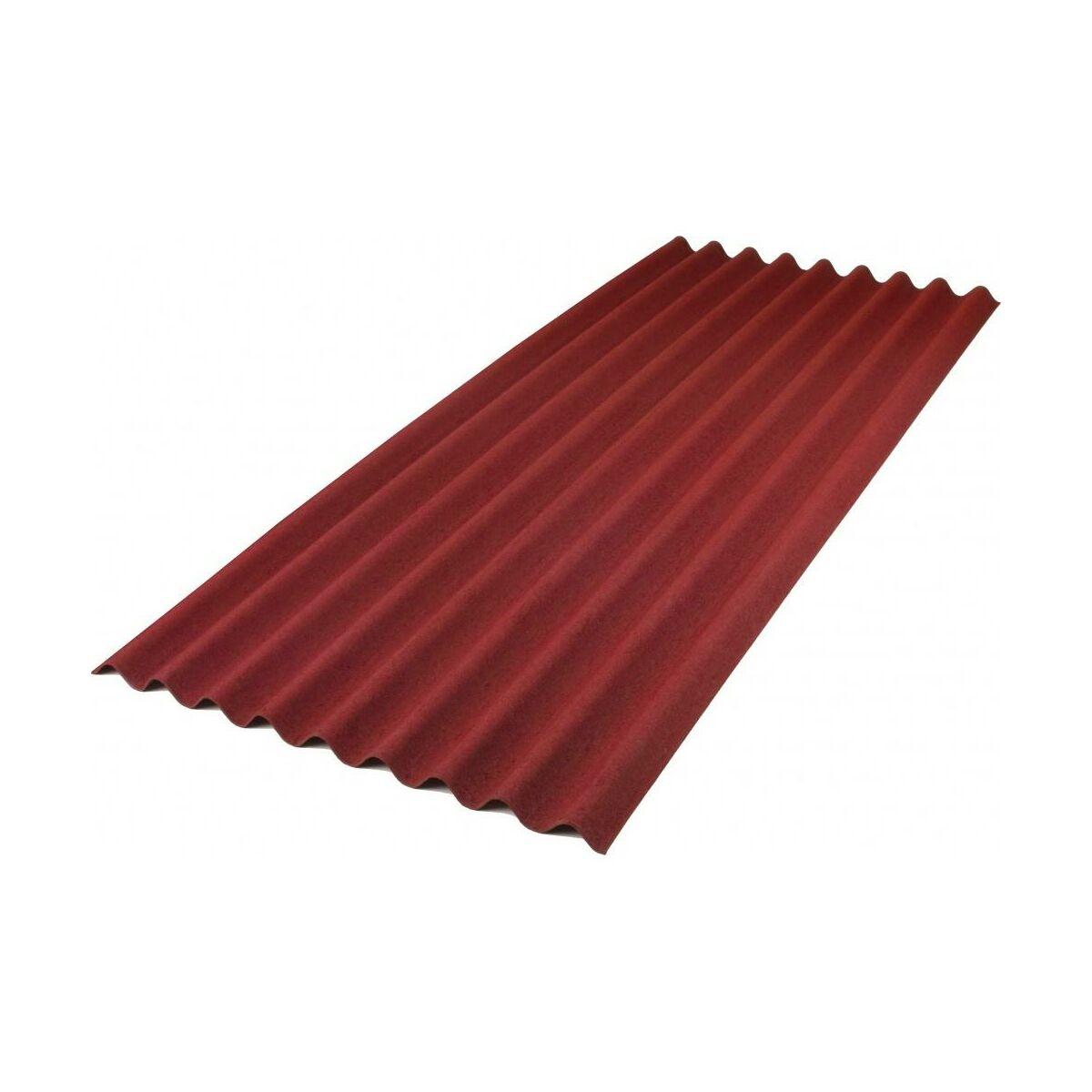 Plyta Bitumiczna Base Czerwona 1 4 M2 Onduline Plyty Bitumiczne W Atrakcyjnej Cenie W Sklepach Leroy Merlin