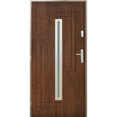 Drzwi wejściowe OZYRYS Orzech 90 Lewe PANTOR