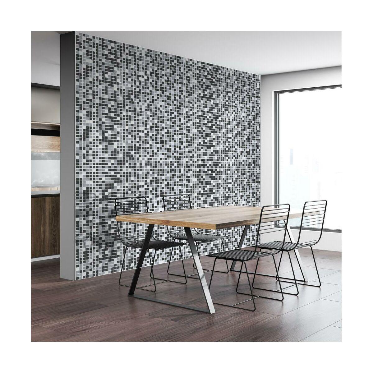 Panel Scienny Pcv Mozaika Szara Panele Scienne W Atrakcyjnej Cenie W Sklepach Leroy Merlin