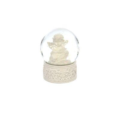 Kula śniegowa aniołek 6.5 cm 1 szt. biała