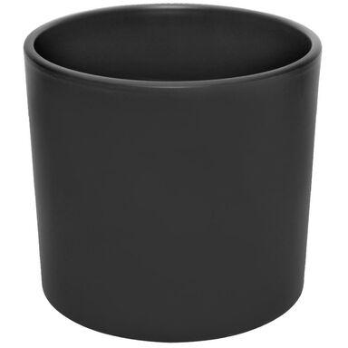 Osłonka ceramiczna 27.8 cm czarna mat WALEC